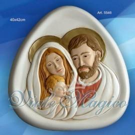 Bomboniera Sacra Famiglia con Profili Colorati Taruschio Ceramiche