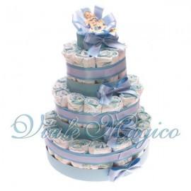 Torta Pannolini da 37 Pezzi per Nascita Bimbo