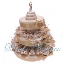 Torta confetti da 35 pezzi con Bomboniera MemoClip W Gli Sposi