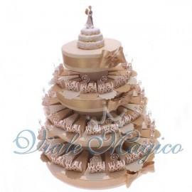 Torta confetti da 60 pezzi con Bomboniera MemoClip W Gli Sposi