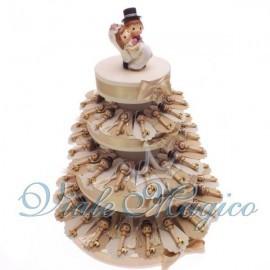 Torta confetti da 60 Bomboniere Chiave Sposini per Matrimonio