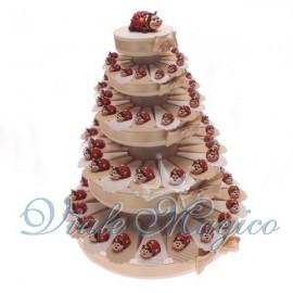 Torta di Bomboniere 90 Coccinelle con Margherite per Compleanno