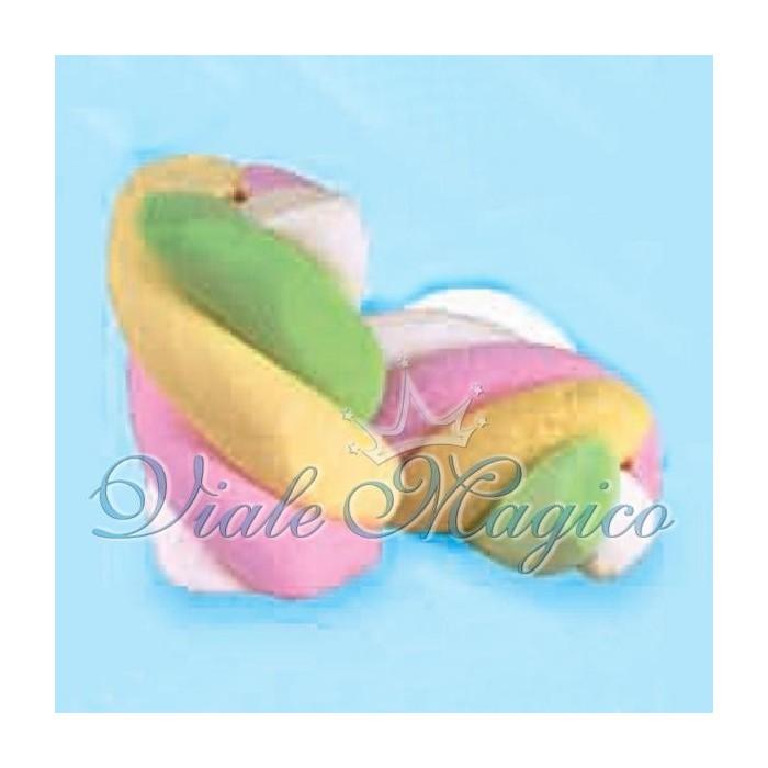 Bomboniere Fai da te Marshmallow Bulgari Estruso Treccia Colorata Gusto Frutta