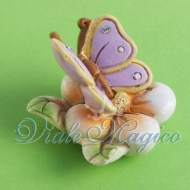 Magnete Farfalla su Fiore per Nascita