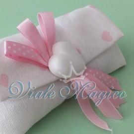 Borsetta Portaconfetti con Cuore Rosa