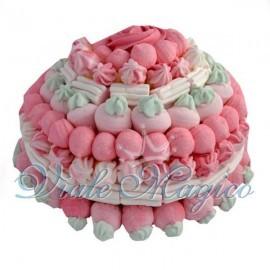 Torta Marshmallow Rosa