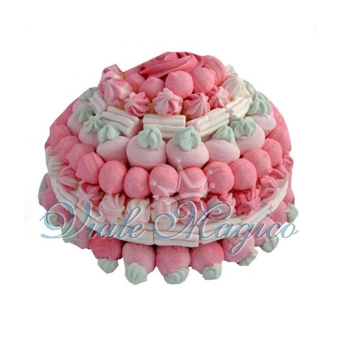 Bomboniere Faidate Bouffet Dolci Caramellata Torta Marshmallow Rosa