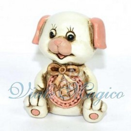 Statuina Cagnolino Baby Rosa