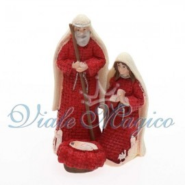 Statuina Sacra Famiglia Rossa