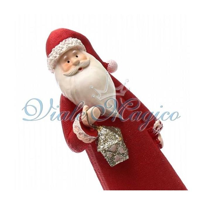 Statuina Babbo Natale con Lanterna