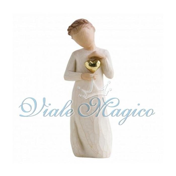 Statuina Bimba con Cuoricino per Comunione