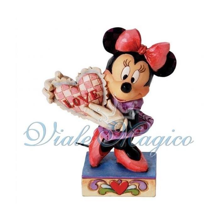 Statuina Disney Minnie con Cuore