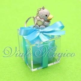 Plexiglass Celeste con Portachiave Baby Bimbo