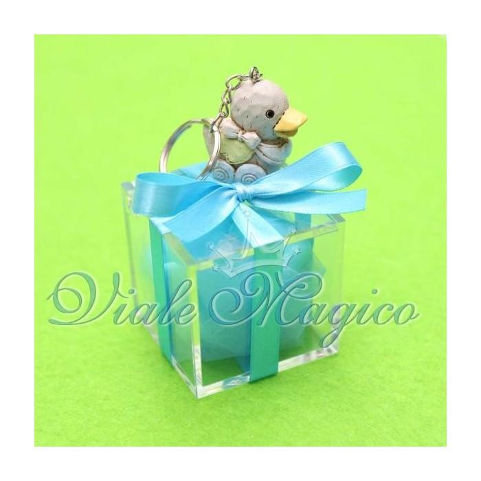 Bomboniera Nascita Battesimo Primo Compleanno Plexiglass Portachiave Baby Bimbo