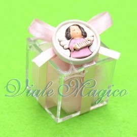 Plexiglass Rosa con Magnete Angioletto Bimba