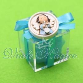 Plexiglass Celeste con Magnete Angioletto Bimbo