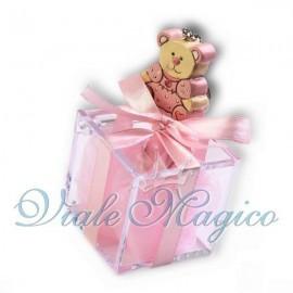 Plexiglass Rosa con Portachiave Orsetto