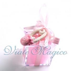Plexiglass Rosa con Appendino Spilla