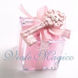 Plexiglass Rosa con Chiave Fiore