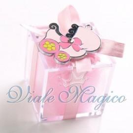 Plexiglass Rosa con Ciondolo Carrozzina per Bimba
