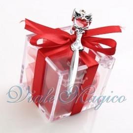 Plexiglass Rosso con Tagliacarte con Gufetto