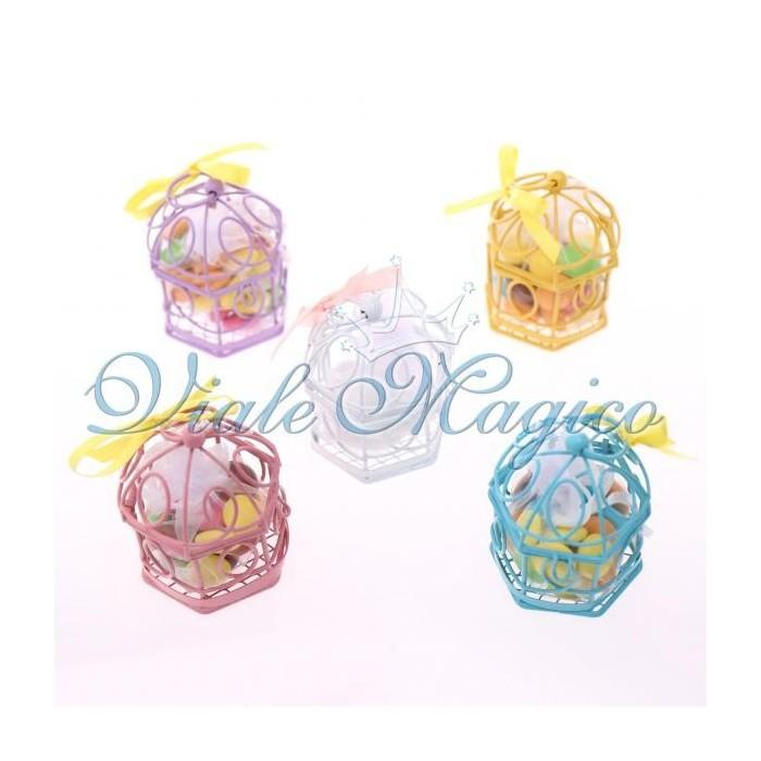 Bomboniere Confezionate Offerta Gabbiette Mix Color con Confetti Compleanno