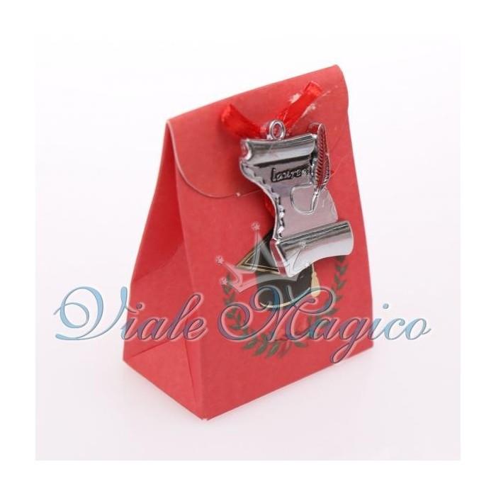 Bomboniere Confettata Astuccio Portaconfetti Laurea Pergamena Offerte