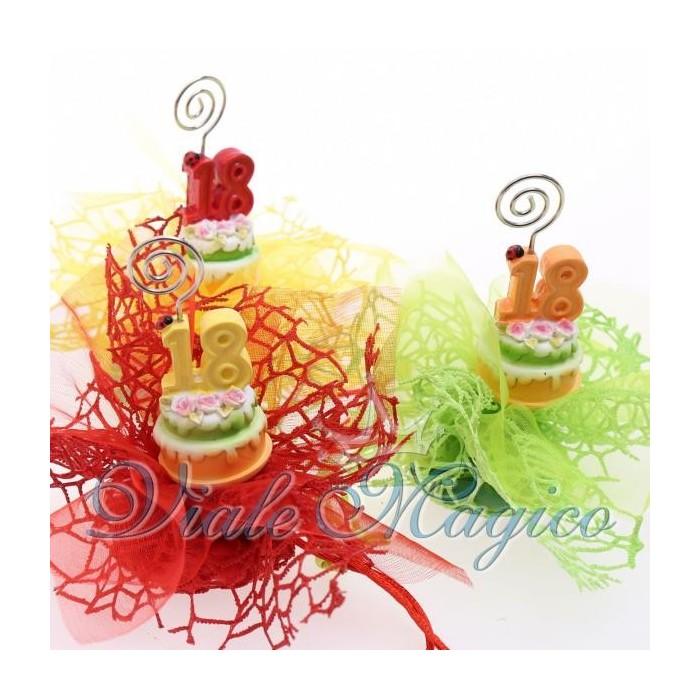 Bomboniere Sacchetti Compleanno Confettata con Memoclip Torta Maxi 18 Anni