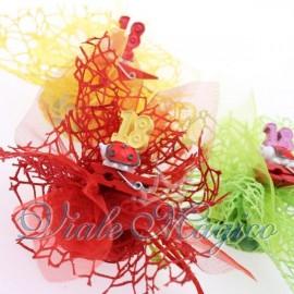 Bomboniere Sacchetti Compleanno Confettata con Mollettina Coccinella 18 Anni
