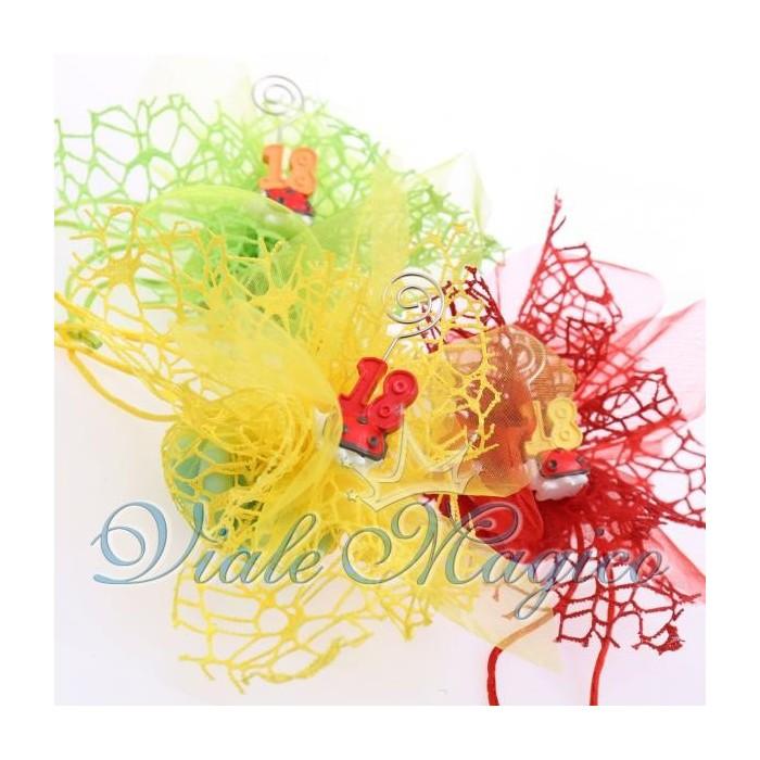 Bomboniere Sacchetti Compleanno Confettata con Memoclip Coccinella 18 Anni