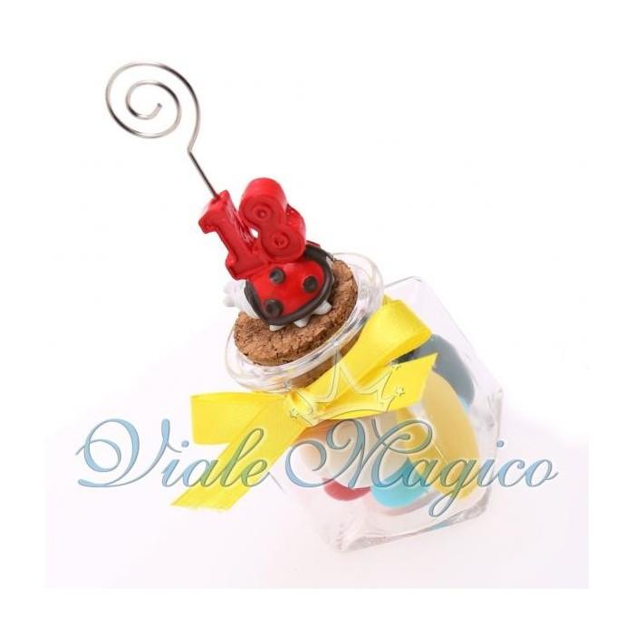 Bomboniere Compleanno Vasetto in Vetro con Memoclip Coccinella 18 Anni Offerte