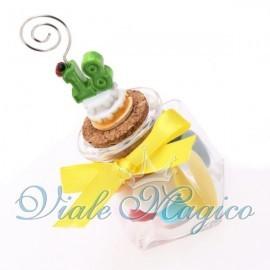 Vasetto in Vetro con Memoclip Torta Mini 18 Anni