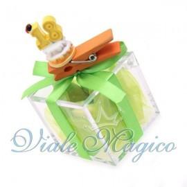 Plexiglass Verde con Mollettina Torta 18 Anni