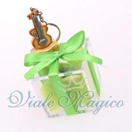 Plexiglass Verde con Portachiave Strumenti Musicali