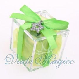Plexiglass Verde con Ciondolo Stellina Strass