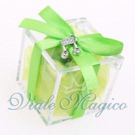 Plexiglass Verde con Ciondolo Nota Musicale Strass