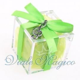Plexiglass Verde con Chiave di Violino Silver