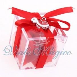 Plexiglass Rosso con Ciondolo Tartaruga