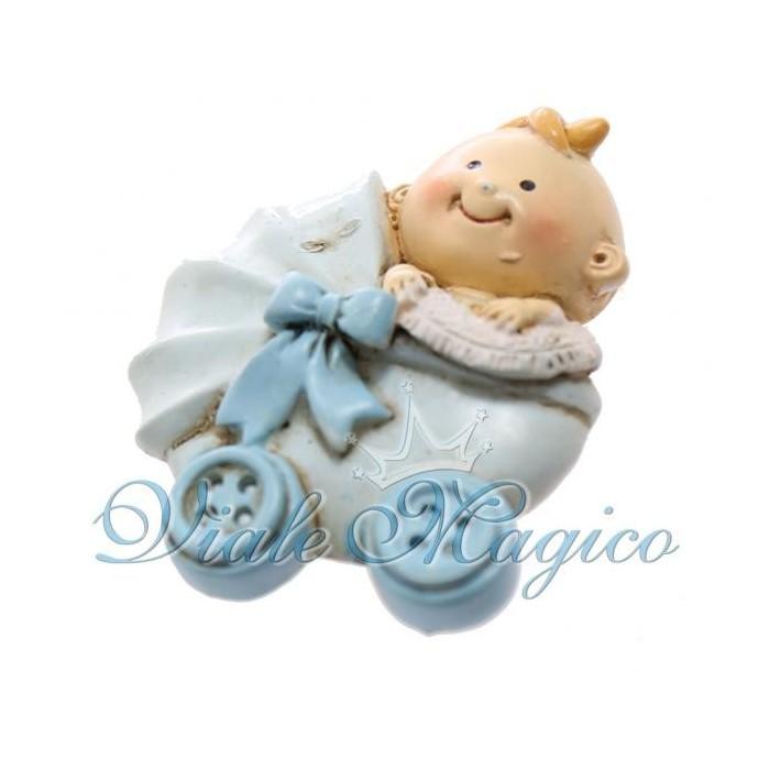 Bomboniere Faidate Nascita Battesimo Primo Compleanno Magnete Carrozzina Bimbo