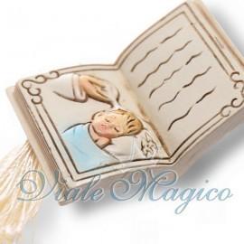 Libro con Nappina Immagine Battesimo Bimbo