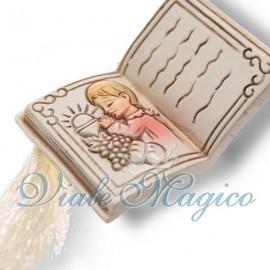 Bomboniere Prima Comunione Bimba Libro con Nappina Immagine Sacra Offerte