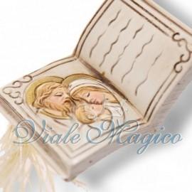 Bomboniere Cresima Segnaposto Faidate Libro con Nappina Sacra Famiglia Offerte