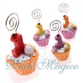 Memoclip Cupcake Primo Compleanno