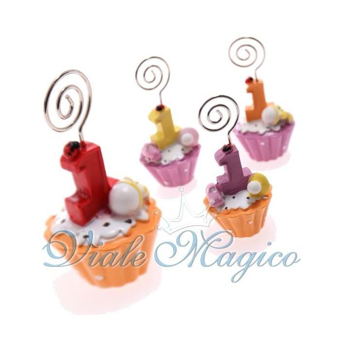 Bomboniere Memoclip Cupcake Primo Compleanno
