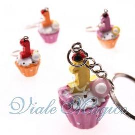 Bomboniere Faidate Segnaposto Portachiave Cupcake Primo Compleanno