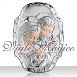 Icona Sacra Famiglia Vallombrosa in Argento Beltrami