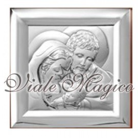 Icona Quadrata Sacra Famiglia Vallombrosa in Argento