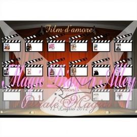 TAB1406 Tableau Film D'Amore 50 x 70 cm con Segnatavoli