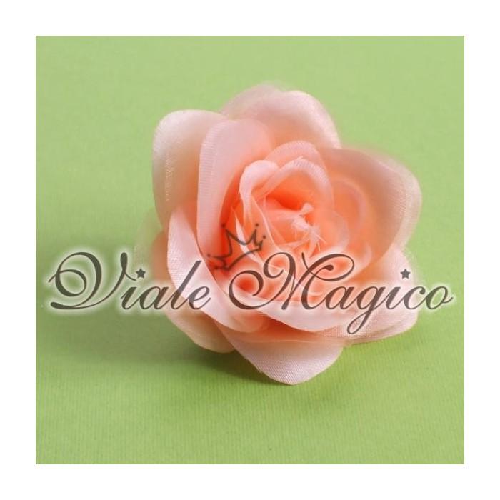 Bomboniere Sacchetti Decorazioni Applicazione Rosa in Tessuto e Organza