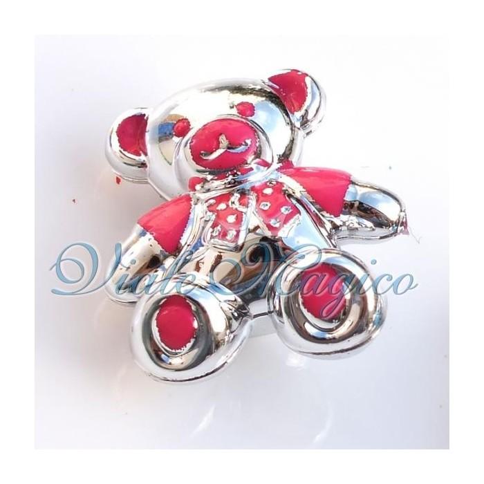 Bomboniere Faidate Orsetto Silver per Decorazioni e Applicazioni 50 Pezzi